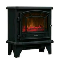 black and red electric fireplace 100 mi