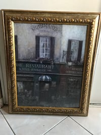 French Print beautiful frame