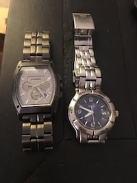 Fossil and Guess men watches