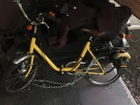 Gas powered fold up bicycle  3489 km