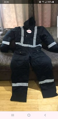 New black M/L canvas coverall with reflective tape Brampton, L6Z 1J6