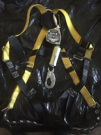 Yellow and black halo safety harness
