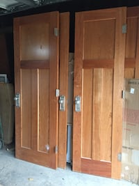 Solid cherry three panel mission style interior doors Chicago, 60656