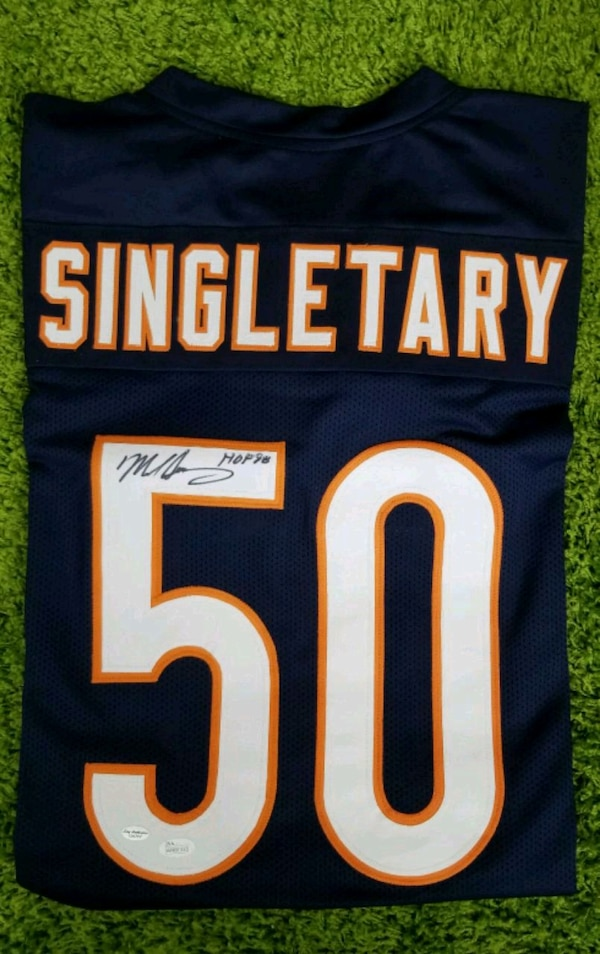promo code 11618 fca7d Used Mike Singletary Signed Football Jersey for sale in ...