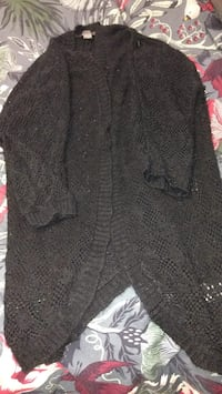 Black knitted v-neck sweater Calgary, T2G 1M7