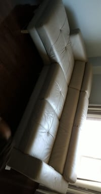 All Leather Grey sectional chair   Brampton
