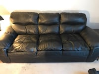 Black Leather Couch and Recliner Stoneham, 02180