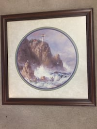 Light house cliff by the ocean painting Toledo, 52342