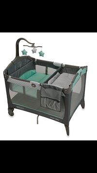 baby's gray and green Graco pack n play Herndon, 20170