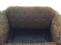 Brown floral pull out sofa bed