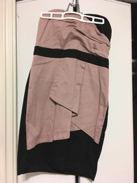 Women's brown and black strapless dress