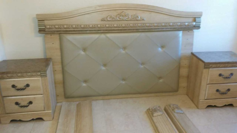 Used King Size Ashley Silverglade Bedroom Set In St Petersburg
