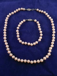 beaded white and brown necklace Toronto, M6L 1A4