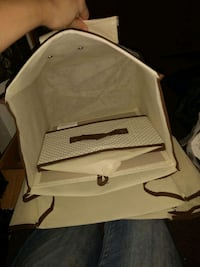white and black pet carrier Clymer, 15728