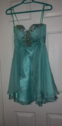 blue short grad dress size small. 32 cups.  Kitchener, N2N