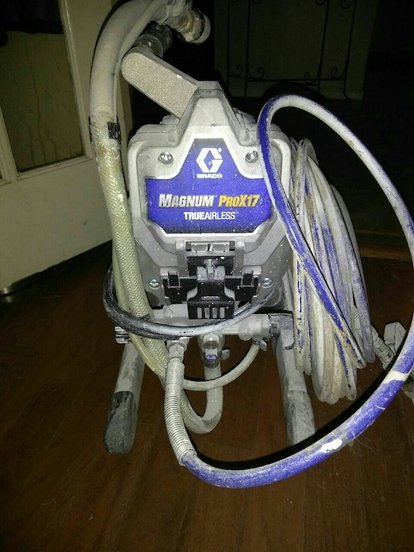 88c7afc9bc3c6a Used grey and purple Graco Magnum ProX17 paint sprayer for sale in  Indianapolis - letgo