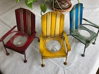 Decorative metal chair with glass Oakdale, 95361