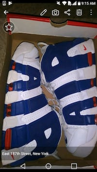 blue-and-white Nike Air Max shoes Bronx, 10458