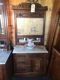 Vintage Carved Wash Stand with marble top Wake Forest, 27587