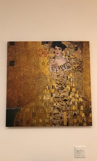 Portrait of Adele Bloch-Bauer, by Gustav Klimt print on wrapped canvas