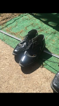 pair of black leather shoes Woodlawn, 37191