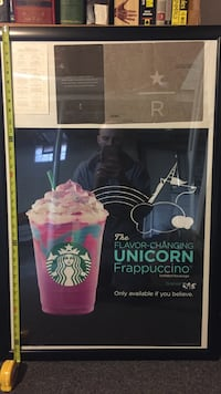 Authentic Rare Sbux Unicorn Frapp poster Berkley, 48072