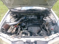 black and gray car engine bay null