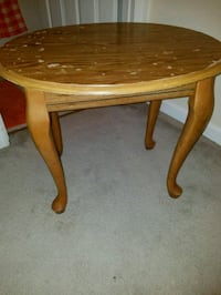round brown wooden side table Raleigh, 27604