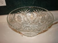 Punch or Trifle Glass Bowl with ladle/scoop Kitchener, ON, Canada