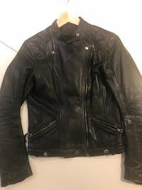 Real leather jacket s. S 6249 km