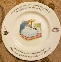 Peter Rabbit plate and cup