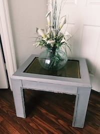 white wooden framed glass top side table Kissimmee, 34741