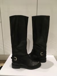 New BLACK LEATHER RIDING BOOTS (NWB), Size 7 Mississauga, L5E 2S3