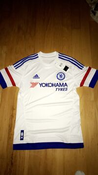 White, blue, and red adidas yokohama tyres jersey shirt Pflugerville, 78660