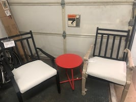 Patio set 3pc new with cushions