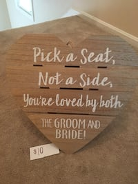 Pick a seat sign for Ceremony Germantown, 20874