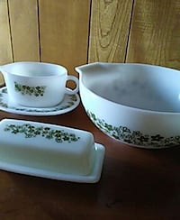 white-and-green ceramic containers Tyler, 75704