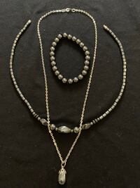 Black necklace bracelet set Woodbridge, 22192