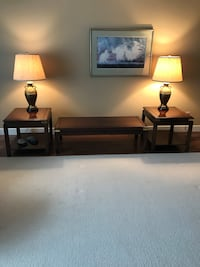 Coffee table, end tables and lamps North Vancouver, V7H 2W8