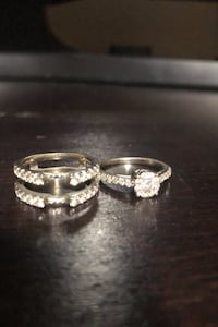 Diamond Wedding Ring with Diamond Band