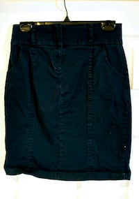 Navy Skirt with zipper in front