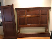 Brown wooden headboard and footboard Upper Marlboro, 20772