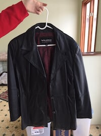Beautiful black button-up leather jacket Ostrander, 43061