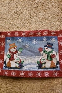 Christmas cloth placemats