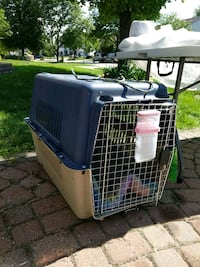 blue and white pet carrier Hoffman Estates, 60169