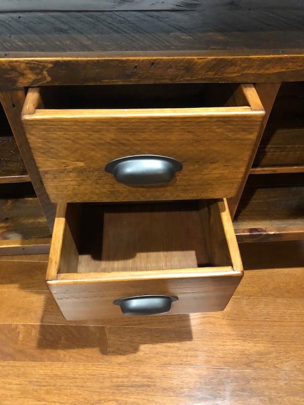 Solid Wood Media Console 2