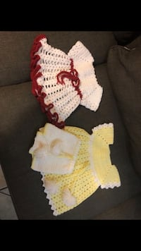 Knitted baby girl dresses