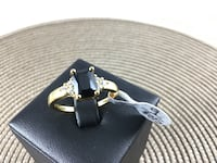 New Black Sapphire Ring 24K Gold Filled, size 9 Chesapeake, 23320