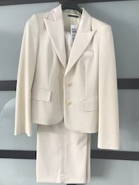 White formal pant suit Made in Italy