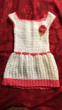 white and red knitted dress Edmonton, T6L 6V6